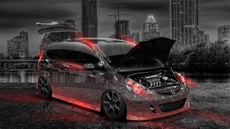 Honda City 4k Wallpapers by Honda Fit Jdm Tuning City Car 2014 El Tony