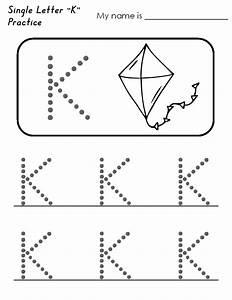 K Worksheets For Kindergarten - free printable ...