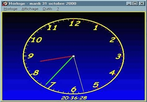 horloge sur bureau windows télécharger horloge pour windows