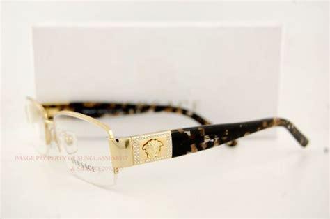 Versace Eyeglasses Frames 1175b 1002 Gold Sz 53 For Women