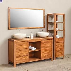 meubles de salle de bain en teck With bain teck