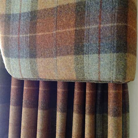 tartan curtains  pelmet  fabrics