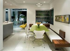 Modern banquette seating for midcentury kitchen and built for Banquette moderne