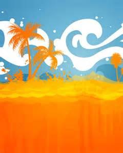Summer Beach Vector Art