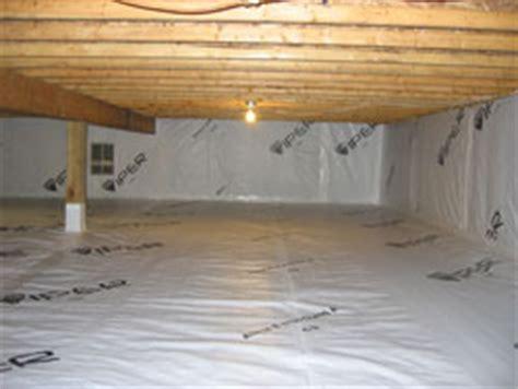 covering basement crawl space floor with plastic vapor barrier sealed crawlspaces concrete vs plastic