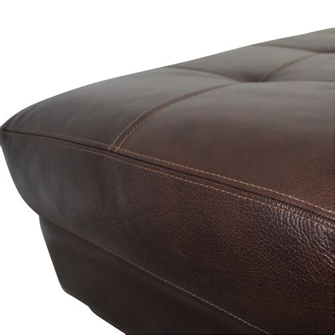 80 chateau d ax chateau d ax cocktail brown leather ottoman chairs
