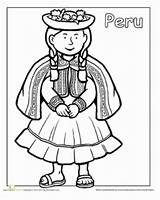 Peru Coloring Pages Activities Flag Hispanic Worksheets Children Printable Learning Heritage Traditional Around Ten Peruvian Sheet Sheets Mommymaleta Different Multicultural sketch template