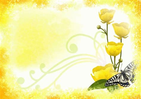 yellow flower design yellow flowers background