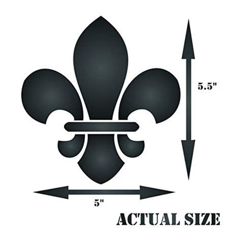 boy scout fleur de lis stencil size