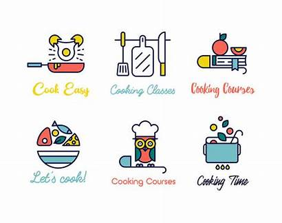 Cooking Class Illustrations Vector Clip Logos Graphics