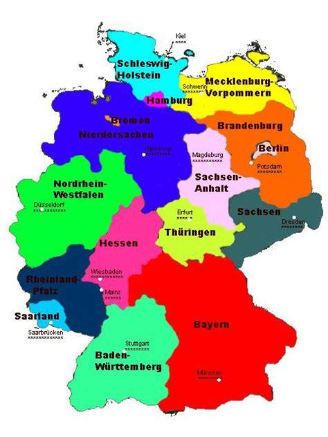9 Est In Deutschland by Deutschland Die 16 Bundesl 228 Nder Landeshauptst 228 Dte