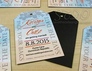 luggage tag save the date magnets idea for a destination With destination wedding invitations magnets