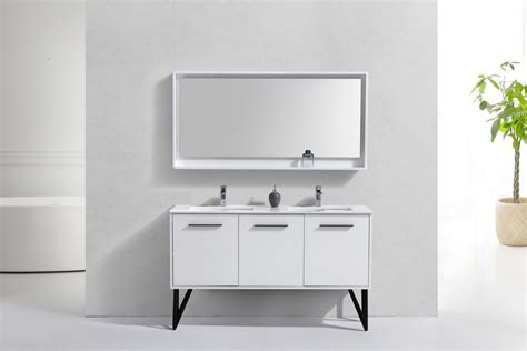 white double sink vanity 60 inch high gloss white double sink bathroom vanity with