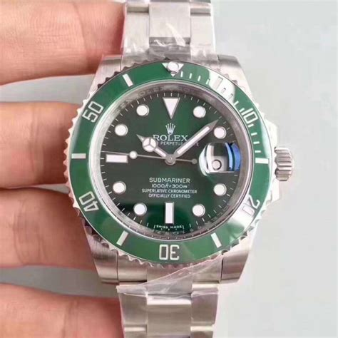 replica rolex submariner date 116610lv 2018 n v9s stainless steel 904l green swiss 2836 2