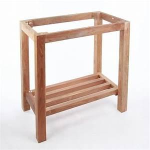 Waschtisch Aus Holz : teak holz waschtisch untergestell natur 75x48x74cm bei ~ Michelbontemps.com Haus und Dekorationen