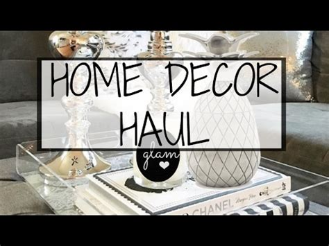Glam Home Decor Haul 2017  Christymel  Youtube