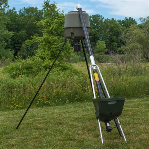 deer feeders for the badass auger quickly fill your feeders without