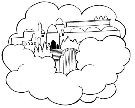 heaven coloring pages heaven colouring pages page