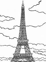 Paris Eiffel Coloring Tower French Printable Tour Flag France Easy Coloriage Colouring Drawing British Coloriages Sheets Bastille Socyberty Du Getdrawings sketch template