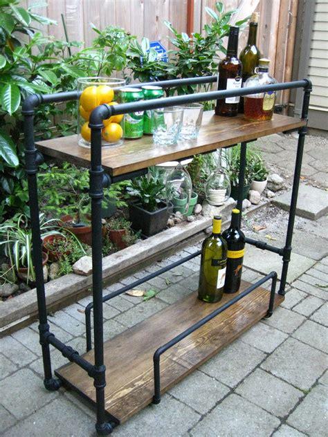 designed diy pipe bar cart