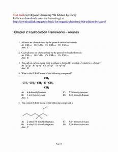 Organic Chemistry Carey 9th Edition Solutions Manual Pdf