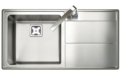 single bowl kitchen sink with drainer rangemaster arlington square kitchen sink single bowl 9306