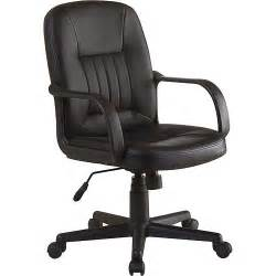 innovex executive leather mid back office chair black