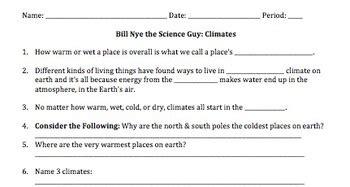 bill nye climate worksheet resultinfos