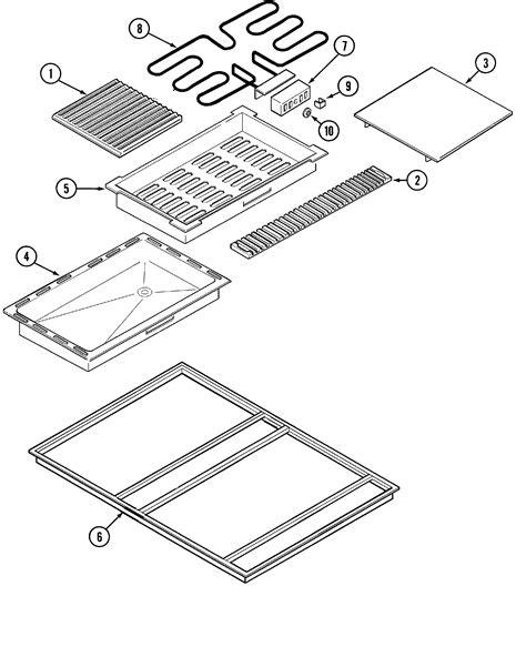 jenn air cooktop parts jenn air cooktop panel parts model cvex4270b