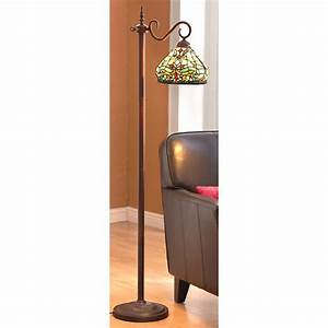 Tiffany style side arm floor lamp 202349 lighting at for Tiffany inspired floor lamp