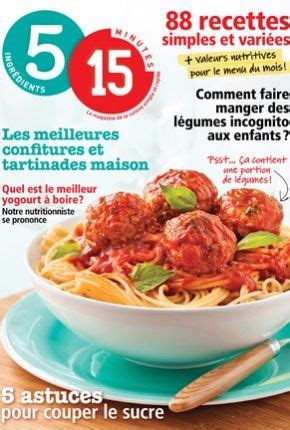 magazine cuisine gratuit 1000 images about 5 15 recettes on bacon muffins and d 39 epices