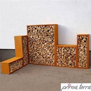 Kaminholzregal Innen Design : prima terra kaminholzregal im edelrost design kaminholzregal profi ~ Markanthonyermac.com Haus und Dekorationen