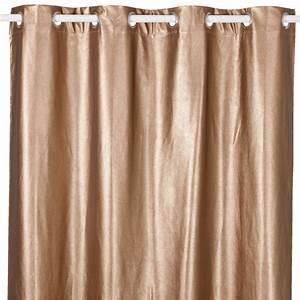 Rideau Rose Gold : cobre rideaux textiles tapis rideau illets en 135x250cm coloris cuivre objet rose gold ~ Teatrodelosmanantiales.com Idées de Décoration