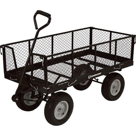 Strongway Steel Jumbo Garden Wagon — 1,400lb Capacity