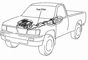 I Have 1995 T100 Truck  I Cannot Locate The Fuel Filter