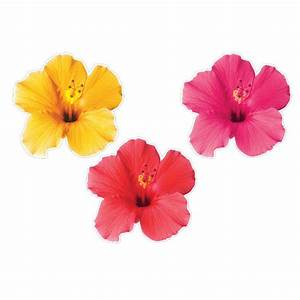 Tropical Flowers Cutouts 3ct Party Value