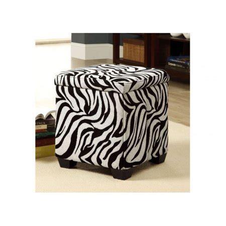 Zebra Ottoman Walmart - monarch i 8971 zebra fabric storage ottoman walmart