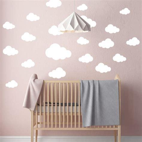 muursticker babykamer wolken set eigen kleur