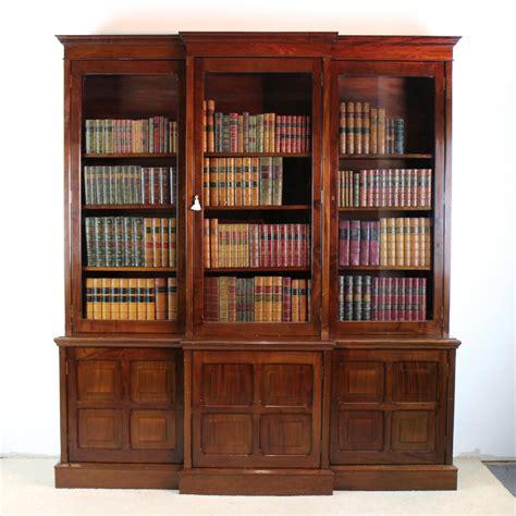 Victorian Mahogany Breakfront Library Bookcase