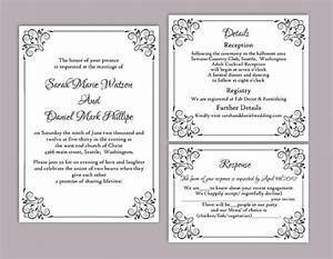 wedding invitations templates printable wblqualcom With free editable wedding invitation templates for word