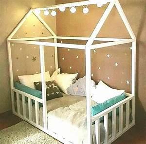 Construire Un Lit Cabane : plan lit cabane en palette jardin ~ Melissatoandfro.com Idées de Décoration