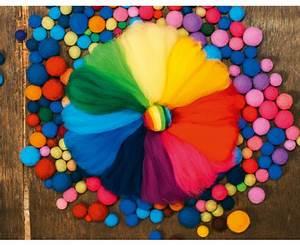 Regenbogen 7 Farben : filzwolle regenbogen 12 farben 100 g ~ Watch28wear.com Haus und Dekorationen