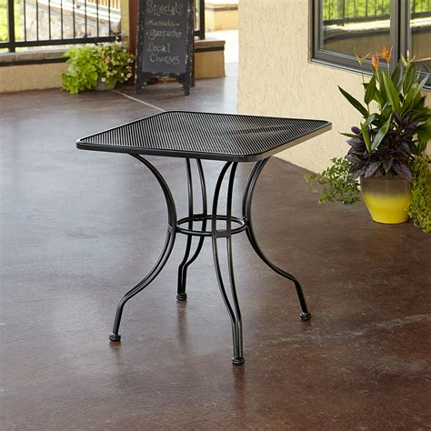 grand resort 28 quot square commercial grade mesh bistro table
