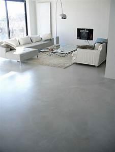 deco salon salon avec sol en beton cire gris et tapis With tapis chambre bébé avec chambre de culture automatique