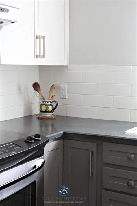 budget friendly kitchen update white gray