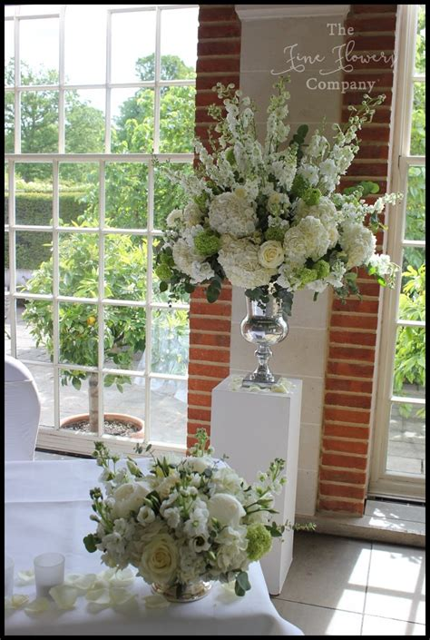 classic white green wedding flowers  great fosters