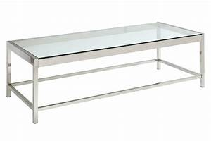 Glass chrome rectangle cocktail table at gardner white for Glass chrome coffee table rectangle
