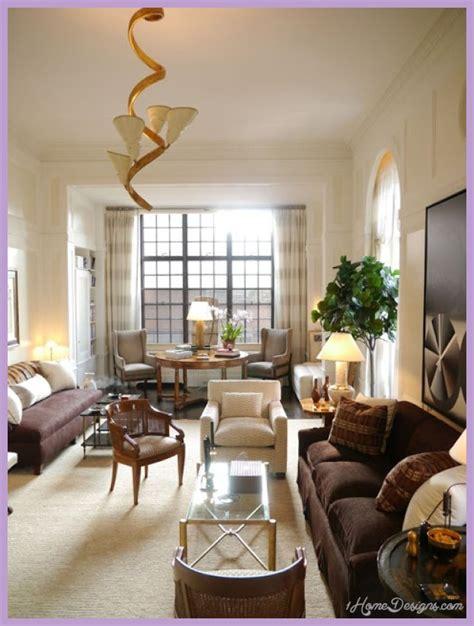 furniture ideas for narrow living room home design