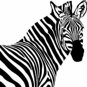 Zebra Head Style #1 Vinyl Wall Art Decal · International ...