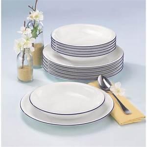Seltmann Weiden Blaurand : seltmann weiden compact tafelservice 12 teilig 10795 blaurand tafelservice porzellan essen ~ Buech-reservation.com Haus und Dekorationen